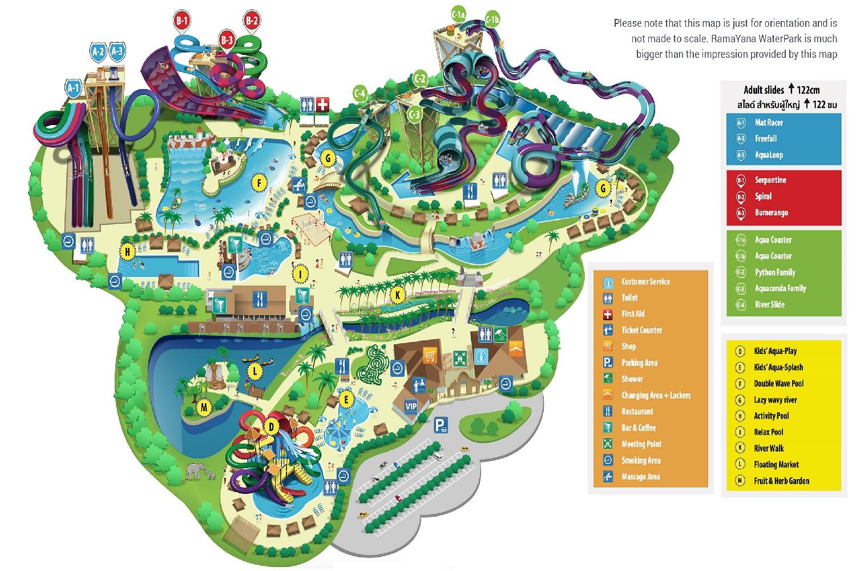 ramayana water park pattaya8 Map